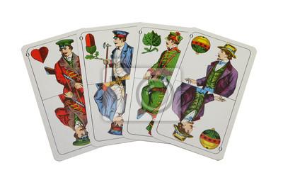 Altes antikes Kartenspiel, Skatspiel