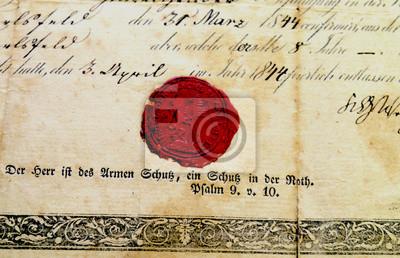 Altes Siegel, Schriftstück von 1840