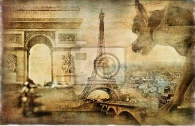 amazing Paris - artystyczny kolaż retro