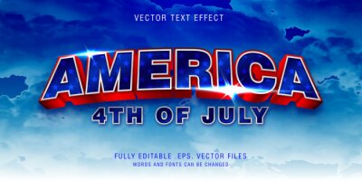 Obraz America text style effect fully editable vector