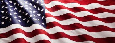 Obraz American Flag Wave Close Up