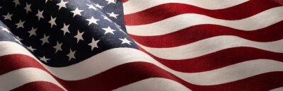 Obraz American Wave Flag Backgroun. USA