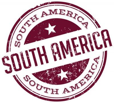 Obraz Ameryka Południowa pieczęć