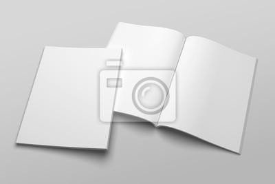 Obraz Amerykański magazyn listowy lub broszura ilustracja 3D nr 1