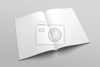 Obraz Amerykański magazyn listowy lub broszura ilustracja 3D nr 3