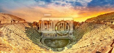 Obraz Amphitheater in ancient city of the Hierapolis
