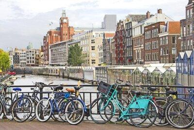 Obraz Amsterdam kanał i rowery