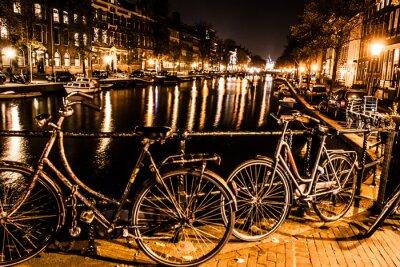 Obraz Amsterdam nocą, Holandia