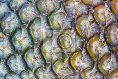 Ananas / Streszczenie tekstury tła świeżego dojrzałego ananasa.