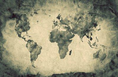 Obraz Ancient, old world map. Pencil sketch, vintage background