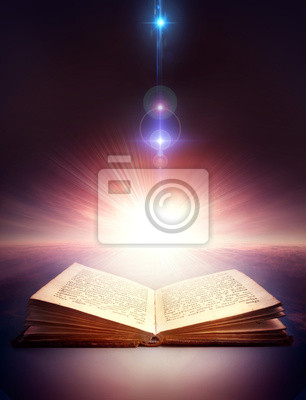 ancient otwarta książka z magii światła