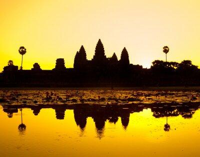 Obraz Angkor Wat, Siem Reap, Kambodża.
