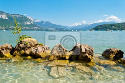 Annecy Jezioro i krajobraz, Sabaudia, Francja