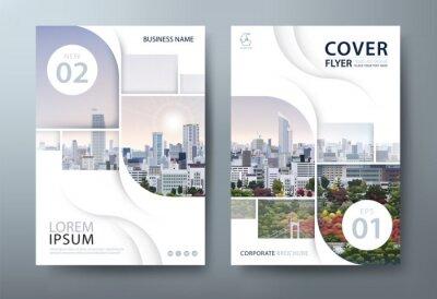 Obraz Annual report brochure flyer design template vector, Leaflet cover presentation, book cover.