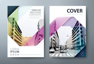 Obraz Annual report brochure flyer design template vector, Leaflet, presentation book cover templates, layout in A4 size