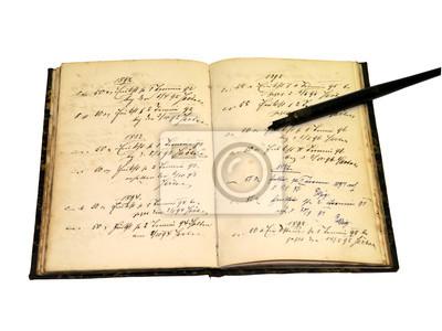 antikes Notizbuch, Schrift von 1850