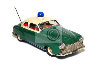 antikes Polizeiauto, Spielzeug, Blechauto