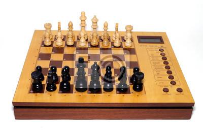 antikes Schachspiel, Schach aus Holz