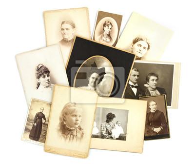 Antique Collage Zdjęcia na białym tle