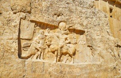 Antyczna sztuka w Naqsh-e Rustam Necropolis, Iran
