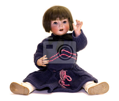 antyczny lalka, głowa lalki porcelanowe 1900