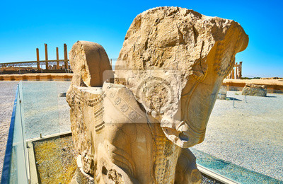 Antykwarski koński protome w Persepolis, Iran