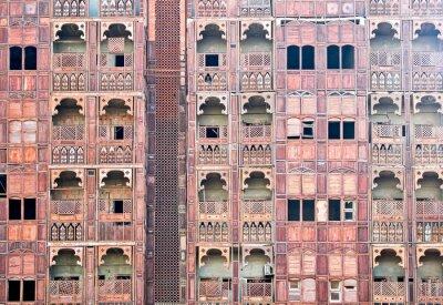 Obraz Arabia Saudyjska, Jeddah, domy dzielnicy Al Balad