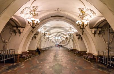 Arbatskaya Moskwy stacja metra - Rosja
