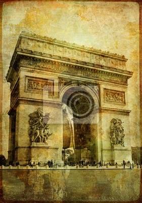 Arc de Triumf - zabytkowe karty (z mojego paryskiego serii)