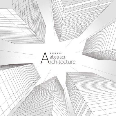 Obraz Architecture urban building design, architecture modern abstract background.