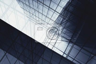 Obraz architektura geometrii w oknie szklanym - monochromatyczna