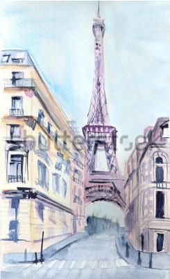Obraz Architektura paryska. Wieża Eiffla