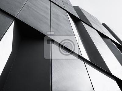 Obraz Architektura szczegółowo Fasada konstrukcja Nowoczesny budynek Black and White