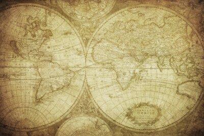 Obraz archiwalne mapa świata 1675