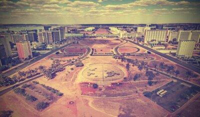 Archiwalne panoramę miasta Brasilia, Brazylia