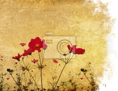 archiwalne papieru tła kwiat