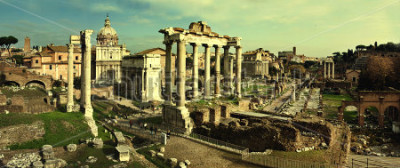 Obraz Archiwalne pocztówki z Foro Romano