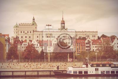 Archiwalne zdjęcie Szczecin rzeki, Polska.