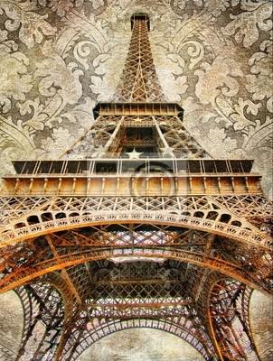 artystyczny obraz z wieży Eiffla