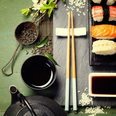 Obraz Asian food tle