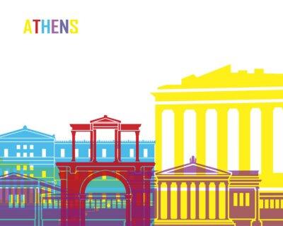 Obraz Athens skyline pop