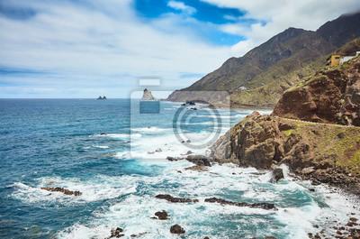 Atlantic Ocean coast of Tenerife near Taganana village, Spain.