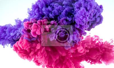 Obraz Atramentowy kolor splash w wodzie - wymieszać tle