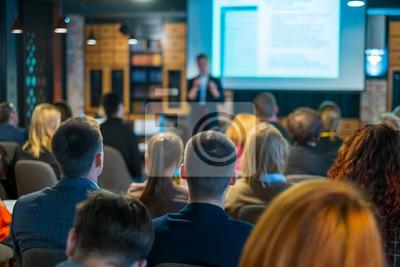 Obraz Audience listens lecturer at workshop
