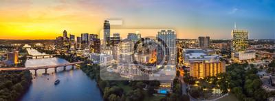 Obraz Austin Skyline w godzinach wieczornych