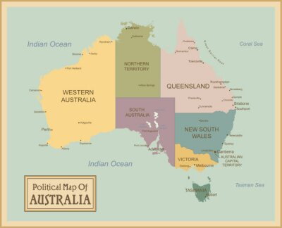 Obraz Australia-bardzo szczegółowe map.Layers używane.