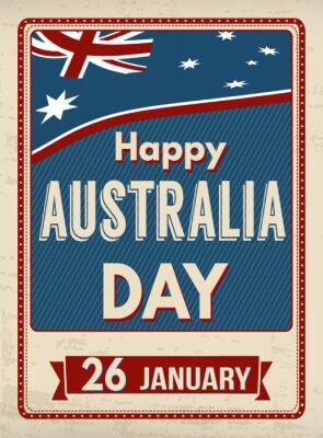 Obraz Australia dnia retro plakat
