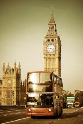 Obraz Autobusy w Londynie