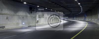 Obraz Autostrada w nocy