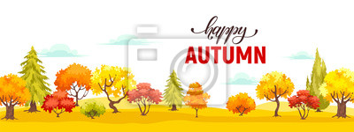 Obraz autumn park veiw